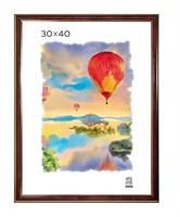 Рамка пластиковая 30х40 см цвет бордовый 3 профиль