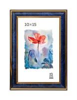 Рамка пластиковая 10х15 см цвет синий 3 профиль