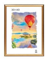 Рамка пластиковая 30х40 см цвет золотой 3 профиль