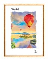 Рамка пластиковая 30х40 см цвет золотой 5 профиль