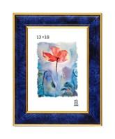 Рамка пластиковая 13х18 см цвет синий 6 профиль